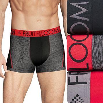 Men's Fruit of the Loom Signature 3-pack Breathable Micro-Mesh Short-Leg Boxer Briefs