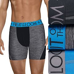 37fbc38b7fa1 Men's Fruit of the Loom Signature 3-pack Breathable Micro-Mesh Boxer Briefs.  Black ...