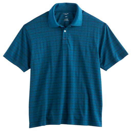 Men's Haggar® Cool 18® Regular-Fit Windowpane Performance Polo