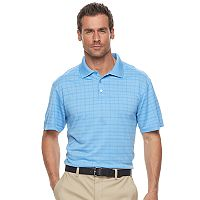 Men's Haggar® Cool 18® Regular-Fit Windowpane Performance Polo