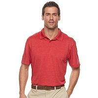 Men's Haggar® Cool 18® Regular-Fit Solid Textured Performance Polo