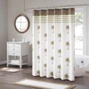 Madison Park Areca Cotton Print Shower Curtain