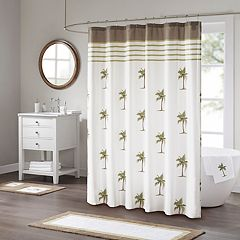 Madison Park Areca Cotton Print Shower Curtain