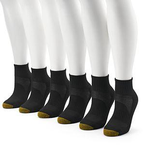 Women S Goldtoe 6 Pack Premium Sport Quarter Socks