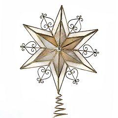 Kurt Adler Capiz Scroll Christmas Tree Topper