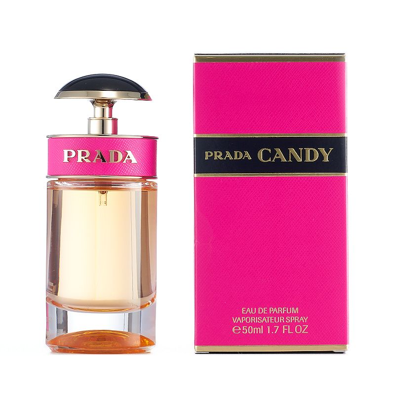 Prada Candy Women's Perfume - Eau de Parfum, Multicolor A light, creamy, sweet scent, Prada Candy offers a mellow warmth that fluidly blends together for a uniquely feminine fragrance. Fragrance Notes Musks, benzoin and caramel Fragrance Details 1.7 fl. oz. Eau de parfum Size: 1.7 Oz. Color: Multicolor. Gender: Female.