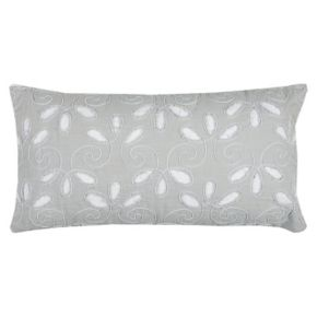 Rizzy Home Floral Applique Embroidered Oblong Throw Pillow