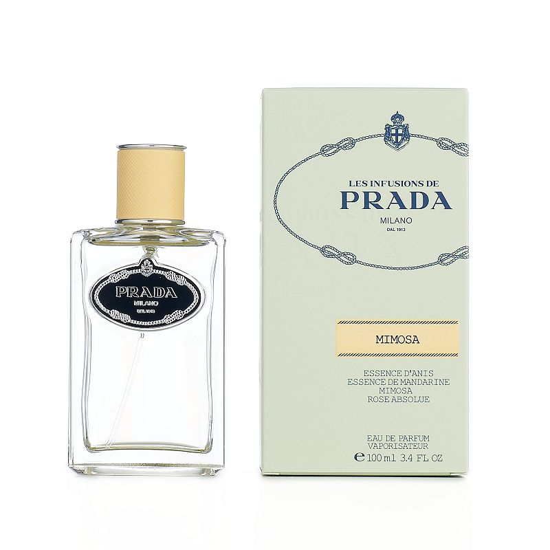 Prada Les Infusions de Mimosa Women's Perfume - Eau de Parfum, Multicolor Les Infusions de Mimosa is a floral and sweet fragrance that brings together scents of mandarin orange, anise and rose with a base of woody notes.Fragrance Notes Anise, mandarin orange, mimosa, rose and woody Fragrance Details 3.3 fl. oz. Eau de parfum Size: 3.3 Oz. Color: Multicolor. Gender: Female.
