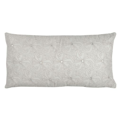 Rizzy Home Scroll Embroidered Oblong Throw Pillow