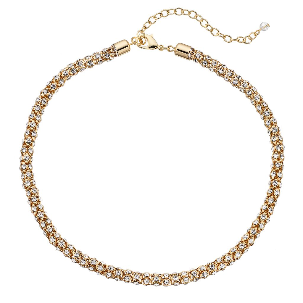 Napier Simulated Crystal Popcorn Chain Necklace
