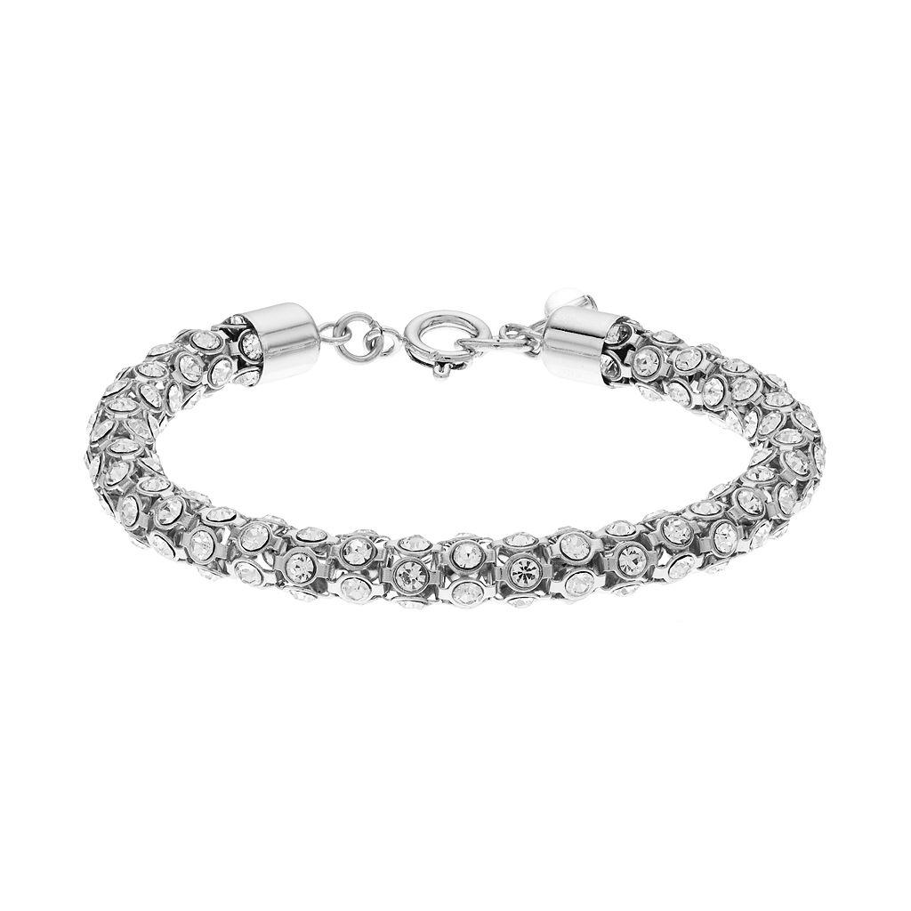 Napier Simulated Crystal Popcorn Chain Bracelet