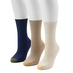 Women's GOLDTOE® 3-Pack Ultra Soft Textured Crew Socks