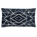 Rizzy Home Geometric Embroidered II Oblong Throw Pillow