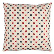 Rizzy Home Textured Bow Tie Embroidered II Throw Pillow