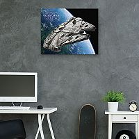 Star Wars: Episode VII The Force Awakens Millennium Falcon Canvas Wall Art