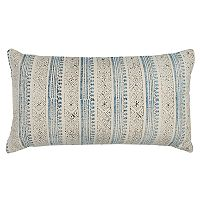 Rizzy Home Vertical Stripe Printed Oblong Throw Pillow
