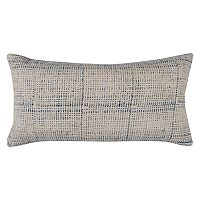 Rizzy Home Textured Solid Printed Oblong Throw Pillow