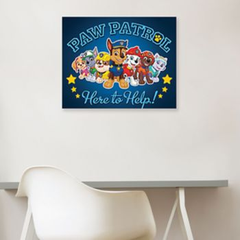 """Paw Patrol """"Here To Help"""" Canvas Wall Art"""