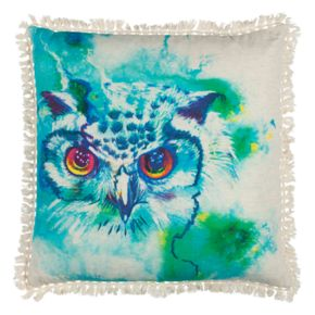 Rizzy Home Vibrant Owl Printed Throw Pillow