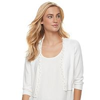 Women's Ronni Nicole Embellished Trim Shrug