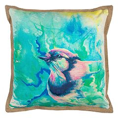 Rizzy Home Vibrant Bird Printed Throw Pillow
