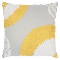 Rizzy Home Half Medallions Embroidered Throw Pillow