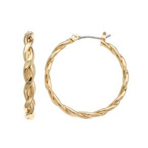 Napier Twisted Hoop Earrings