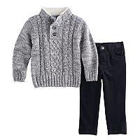 Toddler Boy Little Lad 2-pc. Sweater & Corduroy Pants Set