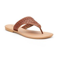 Women's SONOMA Goods for Life™ Basket Weave Perforated Shield Sandals