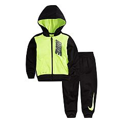Baby Boy Nike Fleece Zip Hoodie & Pants Set