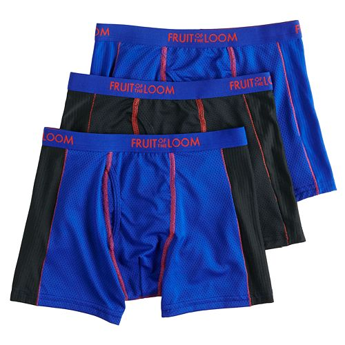 841bbc626ed30d Boys 4-20 Fruit of the Loom 3-Pack Breathable Flex Boxer Briefs