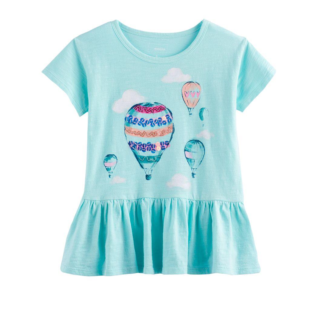 Girls 4-12 SONOMA Goods For Life™ Graphic Peplum Tee