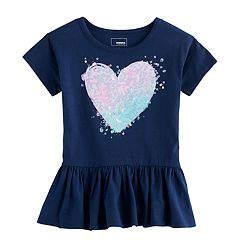 Girls 4-12 SONOMA Goods For Life™ Graphic Peplum Tee