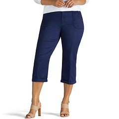 Plus Size Lee Cordelia Roll-Hem Capris