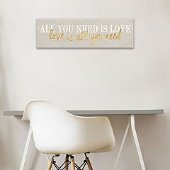 Artissimo Designs 'All You Need Is Love' Canvas Wall Art
