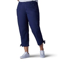 Plus Size Lee Nikki Cuffed Poplin Capris