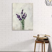 Artissimo Designs Lavender Bouquet Canvas Wall Art