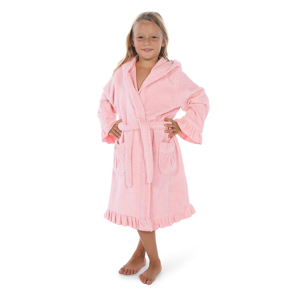 Kids Linum Home Textiles Terry Ruffled Hooded Bathrobe