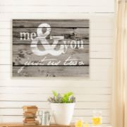 "Artissimo Designs Faux Wood ""Me & You"" Canvas Wall Art"