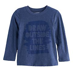 Toddler Boy Jumping Beans® 'Draw Outside The Lines' Slubbed Graphic Tee