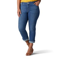 Plus Size Lee Total Freedom Kilee Capri Jeans