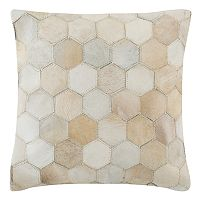 Safavieh Tiled Cowhide Throw Pillow