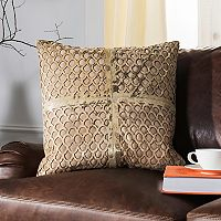 Safavieh Metallic Fin Cowhide Throw Pillow