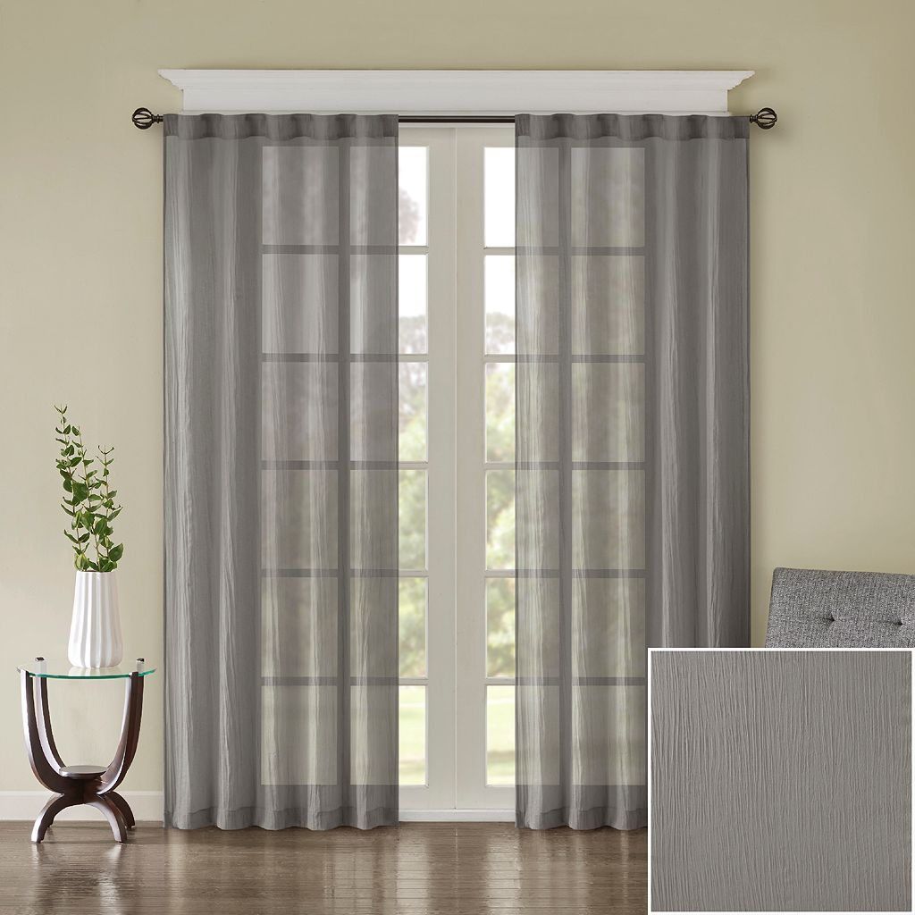 Madison Park 2-pack Kaylee Solid Crushed Window Curtains