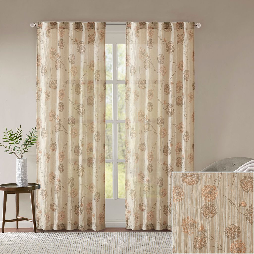Madison Park 2-pack Irie Printed Crushed Window Curtains