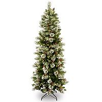National Tree Company 6.5-ft. Pre-Lit Wintry Pine Slim Artificial Christmas Tree