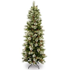 National Tree Company 6.5-ft. Pre-Lit Wintry Pine Slim Artificial Christmas Tree