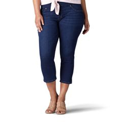 Plus Size Lee Pull-On Slimming Capri Jeans