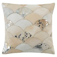 Safavieh Metallic Scale Cowhide Throw Pillow