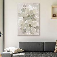 Artissimo Designs White On White Floral I Canvas Wall Art